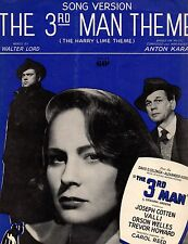 "Anton Karas ""The 3Rd Man Theme"" Sheet Music 1950 valli chappell"
