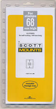 Prinz Scott Stamp Mount 68/240 - CLEAR Background - Pack of 10