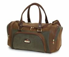 Mens / Womens lightweight suede holdall Gym Cabin School Weekend Bag Tan / Olive