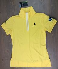 New Nike Golf Polo Small Michael Jordan Celeb Invitational Aria Las Vegas Yellow