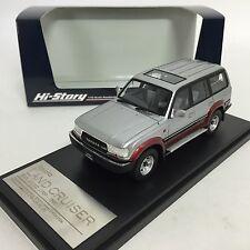 1/43 Hi-Story Toyota Land Cruiser 80 VX-LTD 1989 Silver / Red mica HS124AT