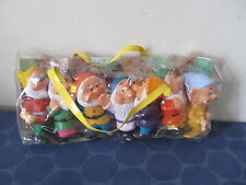 Snow White & the Seven Dwarfs set of 7 dwarfs NEW? in package 1970s? Hong Kong