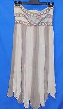 "Never worn Pilgrim Australia Dress with slip 26"" Size Small 8 Strapless Grunged"
