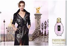 Publicité Advertising 2011 (2 pages) Parfum parisienne par Yves saint laurent