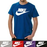 Nike Men's Short Sleeve Logo Swoosh Printed T-Shirt Red Black Blue Purple Gray