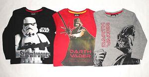 Star Wars Langarmshirt  Kinder Jungen  Gr.104-140 Pullover Shirt langarm neu!