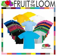 Fruit Of The Loom CHILDREN'S T-SHIRT PLAIN TOP KIDS BOYS GIRLS SCHOOL ALL SIZES