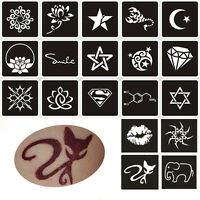 2Sheet Mixed Temporary Tattoo Glitter Stencils Airbrush Body Art Stickers New