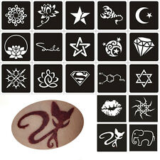 2Sheet Mixed Stencil Packs Temporary Tattoo Glitter Airbrush Body Art Stickers