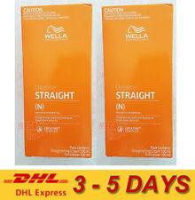 2 x WELLA WELLASTRATE Permanent Straight System Hair Straightening Cream INTENSE