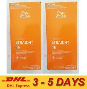 2 x WELLA WELLASTRATE Permanent Hair Straightening Cream Straight System INTENSE