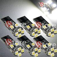 6 Lampade Led T10 Canbus 8 SMD 3528 No Errore Luci BIANCO Xenon Lampadine Targa