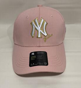 New York NY Yankees MLB Hat Pink Logo White/Gold One Size NWT