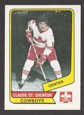 1976-77   OPC O PEE CHEE  WHA  # 90  CLAUDE ST. SAUVEUR   INV  J3753