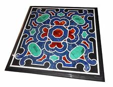 """36"""" x 36"""" Coffee Table Top Marble Inlay Lapis Pietra Dura Art For Home & Garden"""
