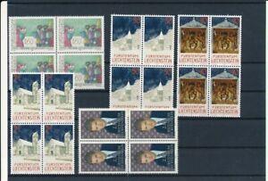 D200099 Liechtenstein 1992 Nice selection of MNH stamps in blocks