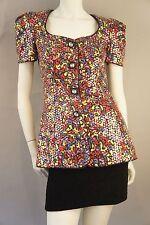 Vintage Lillie Rubin Sequined Multi-color Shirt Jacket, M
