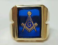 Masonic Ring 14k Yellow Gold Classic Design