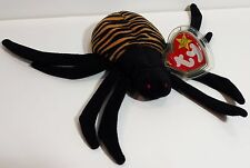 "TY Beanie Babies ""SPINNER"" the HALLOWEEN SPIDER MWMTs! RETIRED! PERFECT GIFT!"
