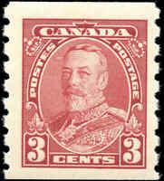 Mint NH Canada 1935 3c F+ Scott #230 Pictorial Coil Stamp