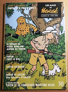 Les Amis de Hergé n° 38. Avril 2004.  ETAT NEUF tirage original.