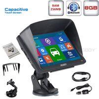 "XGODY 8GB 7"" SAT NAV Lorry LGV Truck Car GPS Navigation Bluetooth 256MB RAM AVIN"