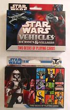 2 Sets Star Wars Heroes & Villains / Red Clone Troopers Cards 2 Deck Card Game