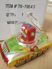 79-79643 Space Robot  Glass Ornament  December Diamonds UFO Christmas Holiday