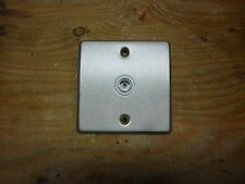 1 GANG TV CO-AX OUTLET BRUSHED STAINLESS STEEL.