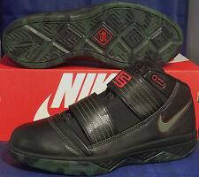 2009 Nike Zoom Soldier III 3 Black Army Olive Red Lebron SZ 9 ( 354815-031 )