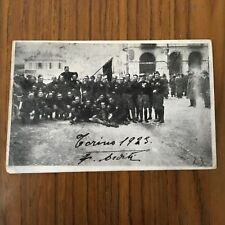 F012_ARDITI, CARTOLINA FOTO-FOTOGRAFIA MILITARE TORINO 1923 FNAI PORTA PALAZZO