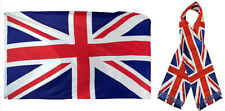 "Wholesale Combo Set United Kingdom UK Country 3x5 3'x5' Flag and 8""x60"" Scarf"