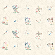 Chicken Scratch Vintage Chickens print by the yard Kaye England Multi color