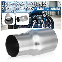 50mm to 38mm Standard Exhaust Reducer Connector Pipe Adapter Stainless Steel