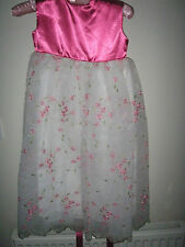 new pink embroided chiffon skirt with satin  sleeveless top