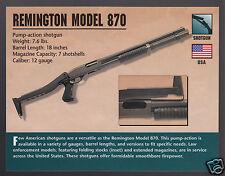 REMINGTON MODEL 870 SHOTGUN 12 Gauge Gun Atlas Classic Firearms PHOTO CARD