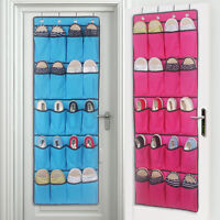 20 Pockets Hanging Over Door Shoe Organiser Storage Rack Bag Box Wardrobe Hook