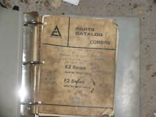 Allis Chalmers Combine K2 & F2 Series Parts Catalog Manual