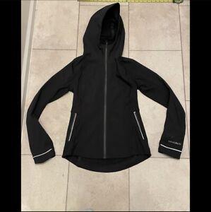 NWOT Lululemon Size 4 Cross Chill Jacket Black Zip Up Coat Reflective Hooded