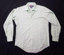 Vineyard Vines Mens Light Green Plaid Button Down Dress Shirt Size 16 35