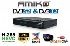AMIKO NEO COMBO SE Ful HD H.265 HEVC WEB TV Conax Sata SSD VFD DISPLAY YOUTUBE