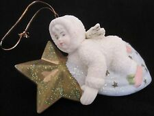 Vintage Bisque Porcelain Snowbabies Snow Babies Style Angel Star Comet Ornament