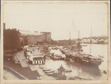 France, Le fort et son port, ca.1905, vintage citrate print Vintage citrate prin