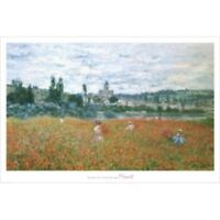 Poppy Field Claude Monet Art Women Children Summer Parasol  8x10 Print 0276