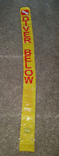 YELLOW Dive sausage Marker Diver Down Signal Tube Scuba 7 Ft With  & String