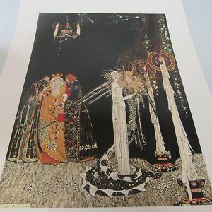 "Nielson, Kay. 1975.""Prince Lindworm"" Wall Decor, Vintage Print-Gift,Collectible"
