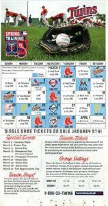 Minnesota Twins--Hammond Stadium--2016 Spring Training Postcard Schedule