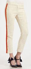 NWT $325 Authentic Tory Burch British Khaki Red Stripe Beige Pants (Size 4-6)