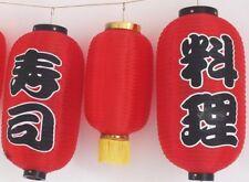 3 JAPANESE L 36cm XL 52cm RED SUSHI CUISINE LANTERN RESTAURANT LIGHTSHADE A2