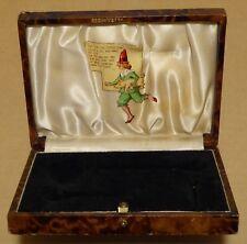 Vintage faux tortoiseshell spoon set box, Tom Tom the Piper's Son poem & image.